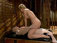 Natural-tittied chick is irresistible exposing perfect body and straponing tied up boyfriend 4