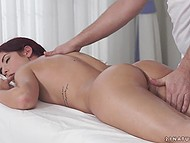 Massage is the favorite thing for female especially when it ends with fucking by handsome masseur 9