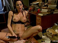 Sexy brunette with big tits rides cock and uses powerful vibrator to receive sexual pleasure 6