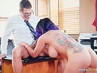 Severe therapist analyzes patient Yurizan Beltran for constantly being late at their meetings 7