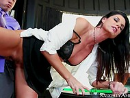 Boss has financial problems and he fucks assistant India Summer in his office to pay for woman's services 6