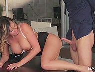 Secretary told husband she had to stay at work later because boss is going to penetrate her pussy