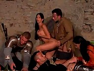 Brave knights will go to war tomorrow but today they feast and initiate unforgettable orgy 4