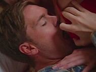 Smoking-hot woman and new groom sneaked in bedroom to have there passionate sex 11