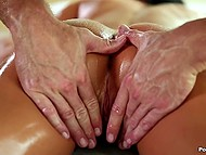 Babe invited home handsome masseur Johnny Sins to give her massage and even something more 4