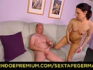 Being on the hog German couple came to porn-studio to earn some money getting it on 9