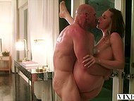 Bawdy young woman Tori Black trusts Johnny Sins with pussy and savors him working inside of her womb 11