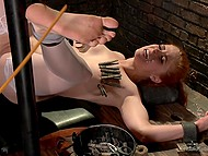 Love tempted pervert boss with her red hair and pale nipples and guy banged her in his BDSM-cellar 5