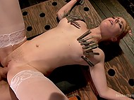 Love tempted pervert boss with her red hair and pale nipples and guy banged her in his BDSM-cellar 8