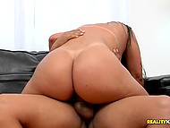 Big butt and natural boobies of Latina are shaking so appetizing when penis enters inside her 10