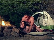 Female hurts the eyes of passer-by with her nudity in the forest so he can't just get past