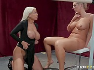 MILF with blonde hair wants pretty-looking woman and she gives her sex she will never forget 6
