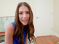 Playful teen Tara Ashley arranges private sex bachelor party for her friend in bedroom 4