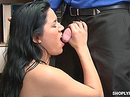 Love with small tits prefers security officer's cock in snatch to being fucked in jail 5