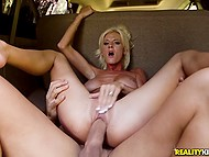 Platinum blonde MILF has no money to pay for gas still driver can fuck her hospitable vagina 7