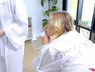 Guy manages to fuck stepsister and cum inside her pussy before priest turns around and sees it 4