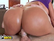 Stunning Latina MILF with juicy melons and round booty rides partner's dick like pro 11