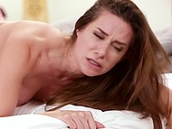 Chick Cassidy Klein rides stepbrother's dick before they change pose into doggystyle 10