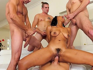 Older man and young guys will do anything to give a lot of pleasure to black girl Jenna J Foxx
