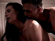 Gina Valentina tries sex with Casey Calvert and her man and asks brunette to let her cum in the end 5