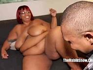 Black guy carefully licks wet pussy of Ebony BBW MILF to make it ready for his phallus 4