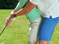 Husband doesn't play golf with Ashley Lane and young lovely cheats on him with his co-worker 3
