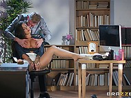Sexual arousal found Susy Gala at her workplace and MILF allows PE teacher Danny D to penetrate her 3