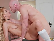 Student was trying to make professor Johnny Sins cum as soon as possible in his office