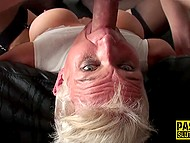 Ruthless man penetrates MILF's throat so zealously and deep like it's made from rubber 10