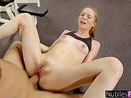 Workout makes petite cutie Ava Parker so excited she seduces boyfriend in empty gym 9
