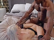 Skinny blonde Emma Hix finally finds courage to seduce her handsome black neighbor 10