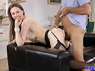 Woman from United Kingdom invites long-legged friend Tina Kay to be fucked by old man