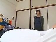 Stepdaughter goes to college and young fucker comes to Japanese MILF to satisfy her pussy 9
