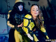 Super-hot Abigail Mac fucked by wild soldier with massive cock in 'Power Rangers' porn parody