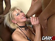 Four men of different races penetrate MILF's all holes to give her incredible pleasure 5