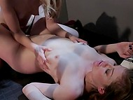 Excellent acting abilities of girls allow them to fiercely moan while they are fondling pussies 7