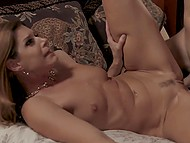 Lascivious man likes watching trimmed pussy and taut booty of MILF while nailing her