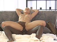 Interracial sex with black man is the best thing ever for gorgeous blonde Blanche Bradburry 8