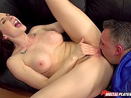 Sports manager Chanel Preston spreads legs showing pussy and football player goes to fuck her 9
