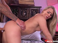 Tired guy comes home and sex with sultry girlfriend AJ Applegate cheers him up like nothing else 10