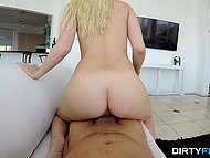 Light-haired girl wants to improve relations with stepbrother and sex will definitely help her 7