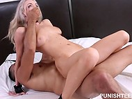 Comely blonde Molly Mae tied up and brutally penetrated by excited Latin boyfriend 6