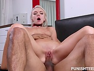 Comely blonde Molly Mae tied up and brutally penetrated by excited Latin boyfriend 8