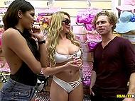 Customer of lingerie shop in exchange for money agrees to suck stranger's penis 7