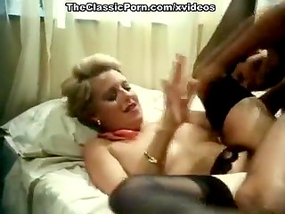 Blonde woman looks at handsome Spanish handyman and realizes that wants his cock inside pussy