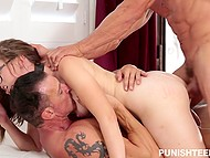 Provoking love came to specified hotel room to be double banged by Tomy Gunn and his partner 10
