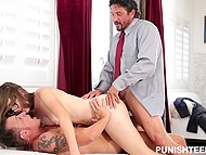 Provoking love came to specified hotel room to be double banged by Tomy Gunn and his partner