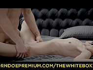 Pussy of sexy tied-up redhead is so defenseless and crooked cock enters it at ease 10