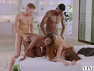 White and black couples swing partners and all is set for tender interracial foursome