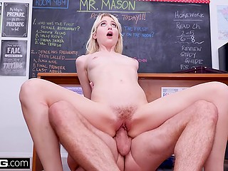 Cutie Chloe Couture confesses on camera about amazing sex with handsome teacher in class